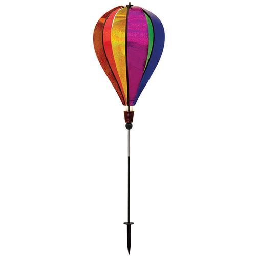 Hot Air Balloon Ground Spinner - Rainbow Glitter