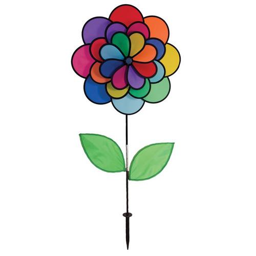 """Flower Spinner - 19"""" 24 Petal Triple Wheel with Leaves"""