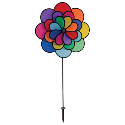 "Flower Spinner - 19"" 24 Petal Triple Wheel"