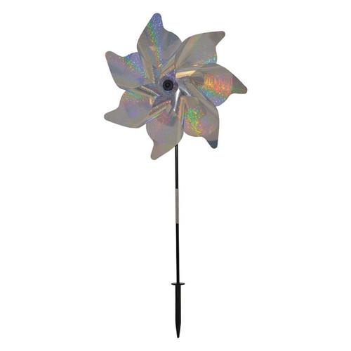 "Pinwheel Spinner - 18"" Silver Sparkle"
