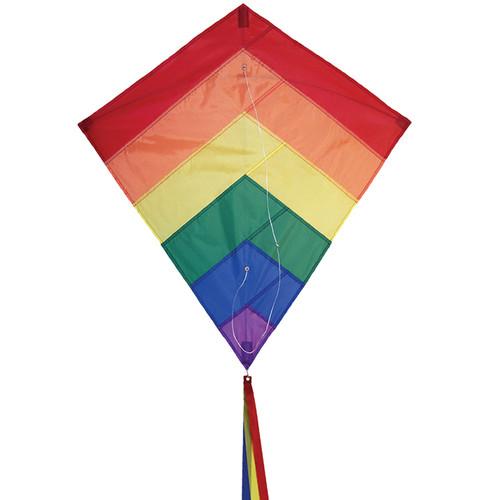 """Diamond - 30"""" Rainbow Overlay Kite"""