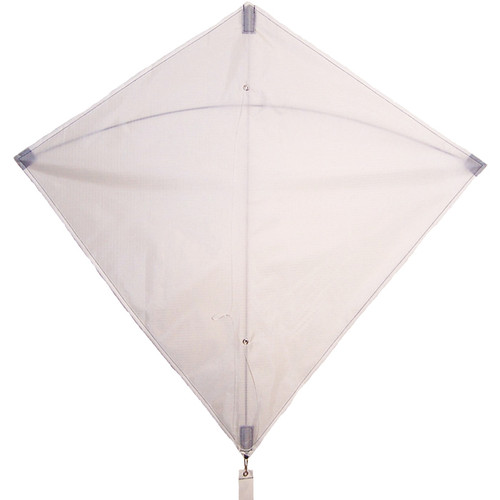 "Colorfly Diamond - 30"" White Kite"