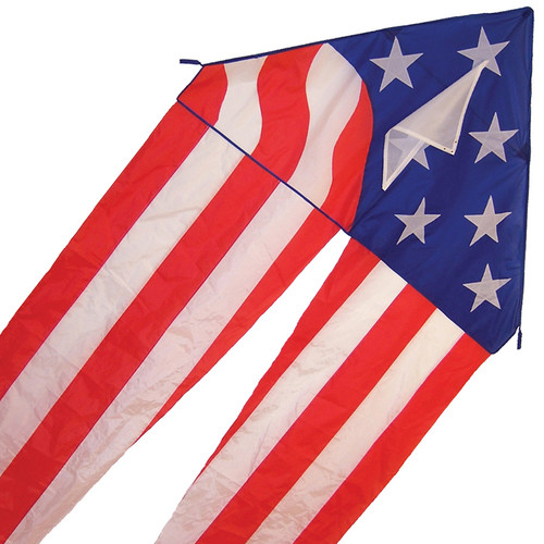 """Delta - 56"""" Patriotic Kite with Long Flowing Tails"""