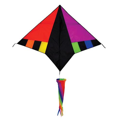 "Twister Delta - 60"" Rainbow Zephyr Kite"
