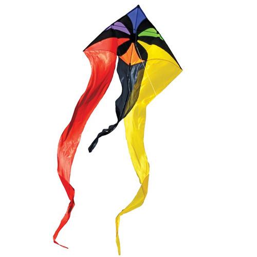 "Wave Delta - 52"" Rainbow Flux Kite"