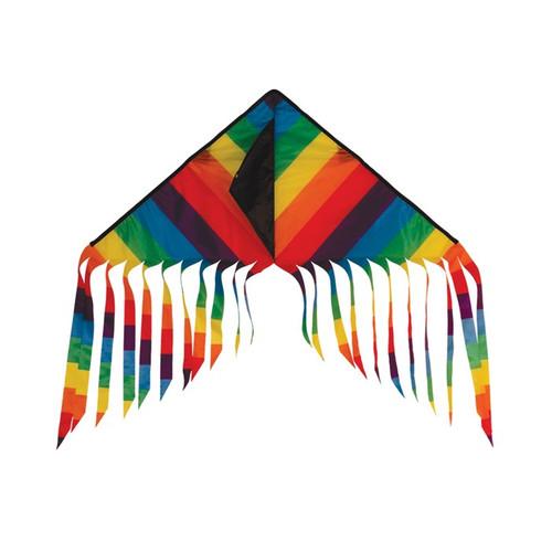 "Flutterfly Delta - 32"" Rainbow Stripe Kite"