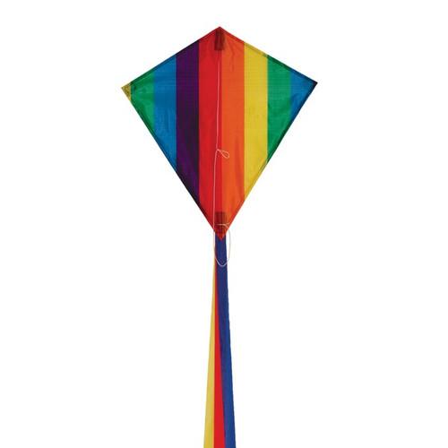 """Diamond - 18"""" Rainbow Stripe Kite"""