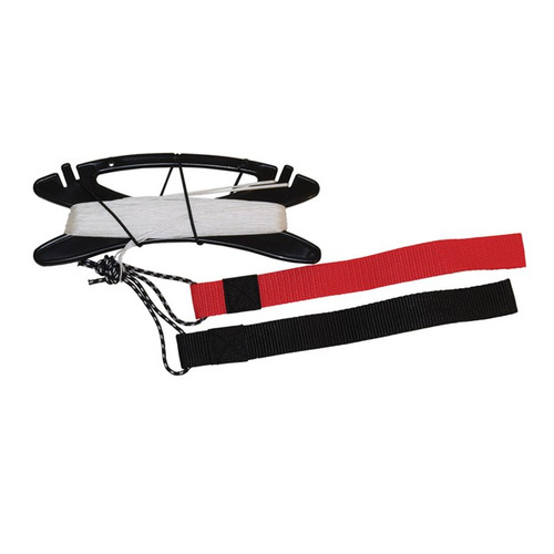 Kite Line Set - Braided Polyester Line with Straps - 50# x 80'