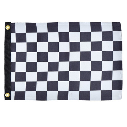 "Grommet Flag - 12"" x 18"" Checkered Flag"