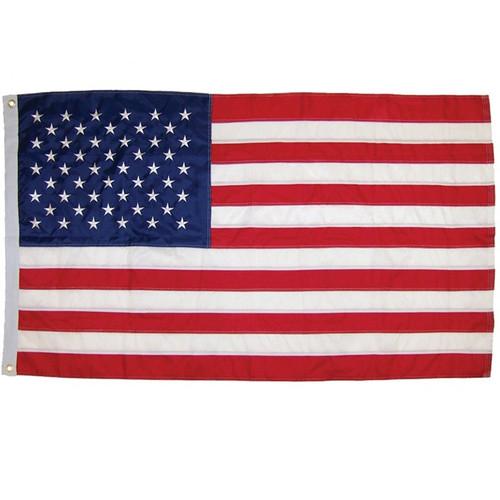 Grommet Flag - 3' x 5' US Flag Embroidered