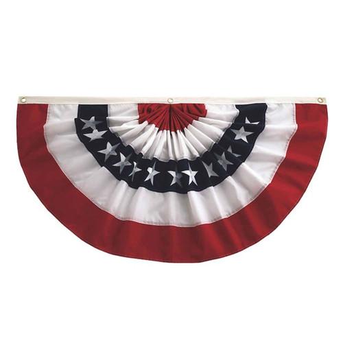 Pleated Fan Patriotic Bunting - 2' x 4'