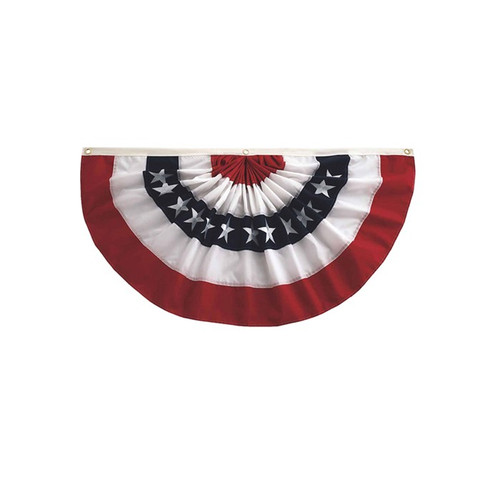 Pleated Fan Patriotic Bunting - 1.5' x 3'