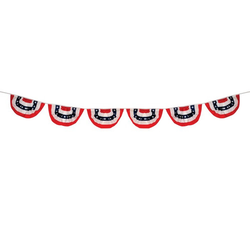 Pleated Fan Patriotic Bunting String - 6 Panels