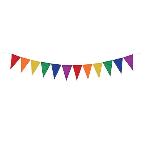 Hanging String Decor - Rainbow Festive Pennant