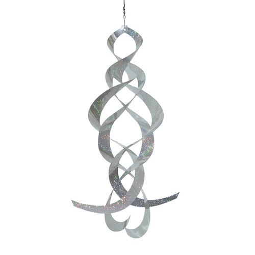 Mylar Spin Quartet  - Silver Sparkle
