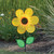 """Flower Spinner - 12"""" Yellow Sunflower with Leaves"""