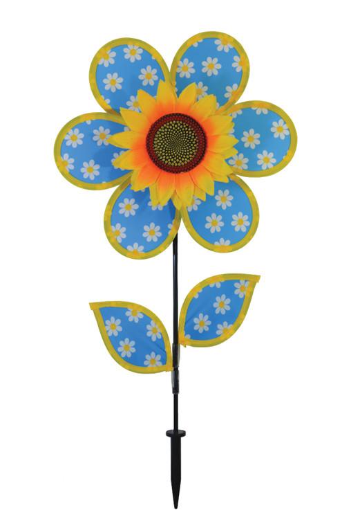 """Flower Spinner - 12"""" Daisy Sunflower with Leaves"""