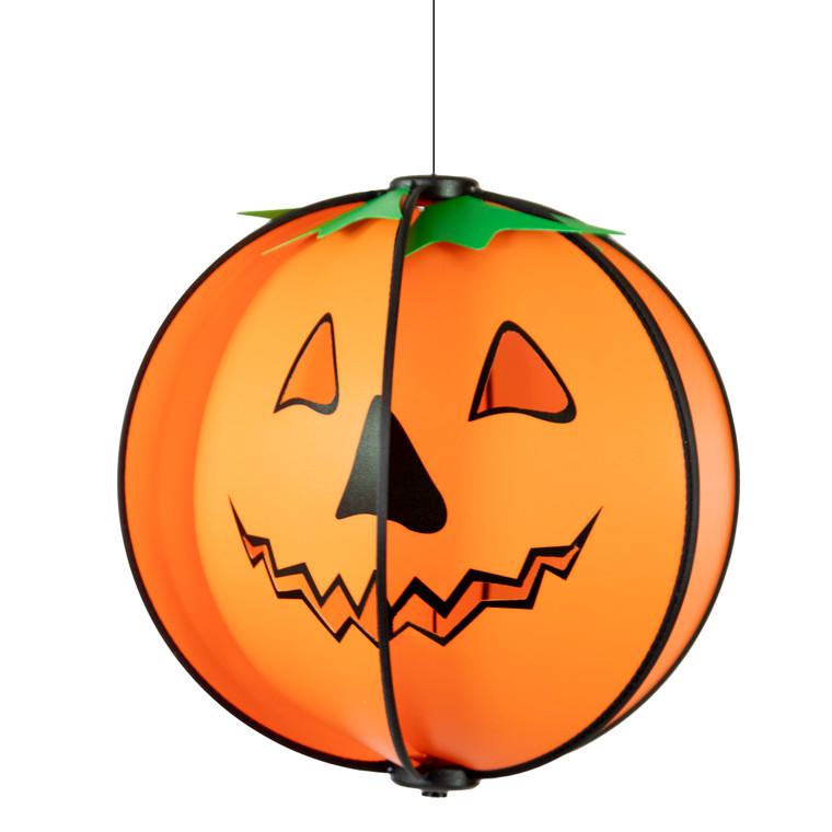 Carved Pumpkin Spinning Globe