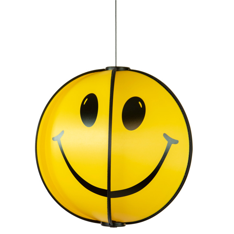 Smiley Face Spinning Globe - Hanging or Ground Decor