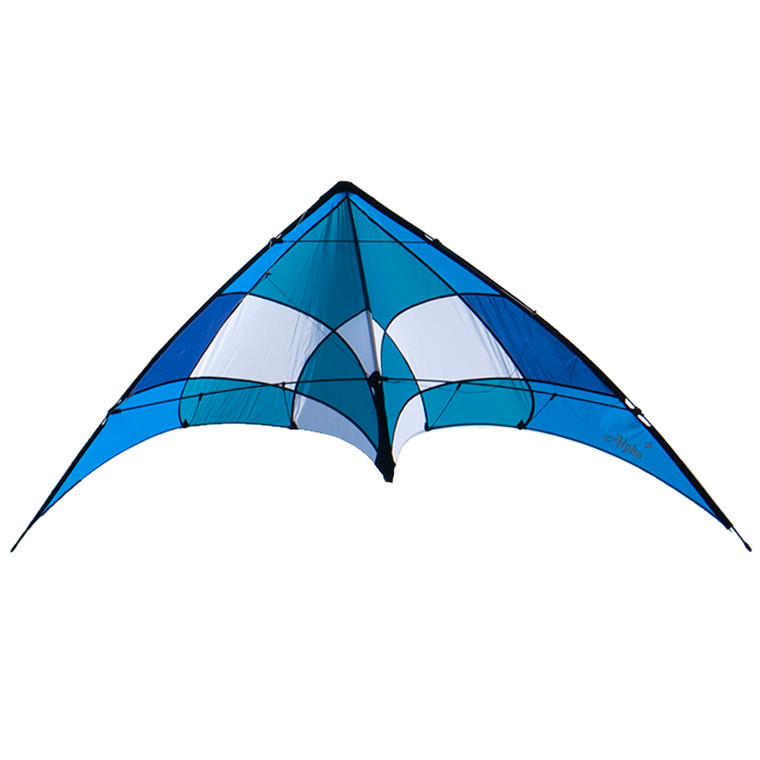 Teal/Blue Alpha+ Stunt Kite with Dyneema Lines