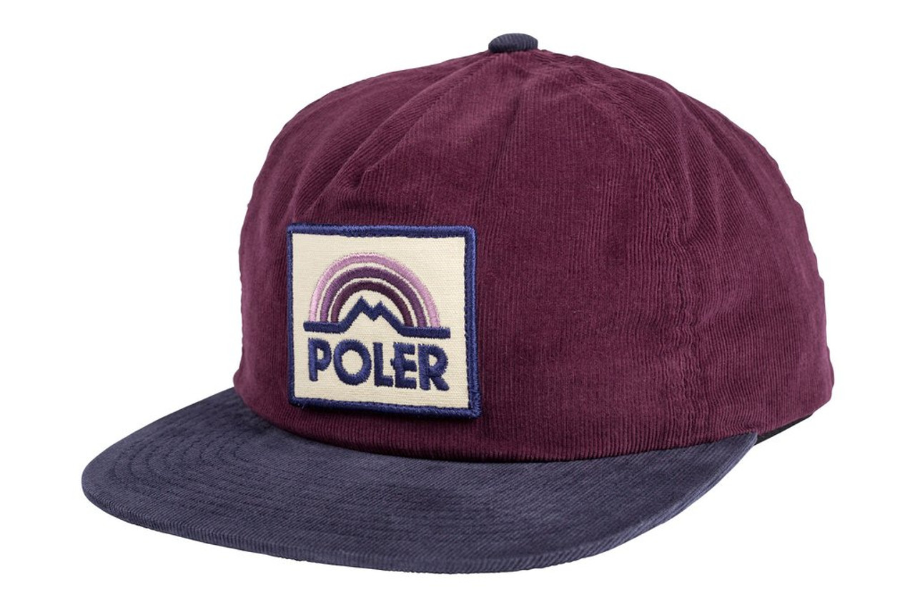 Poler Mountain Rain Grampa Cord Hat Grape Snapback  a69e33d5248