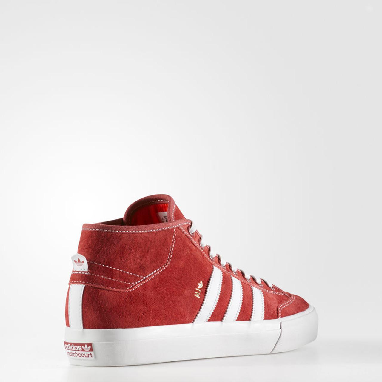 meet b0d61 dcd9a ... Adidas Matchcourt Mid Marc Johnson Shoes MJ Red White ...