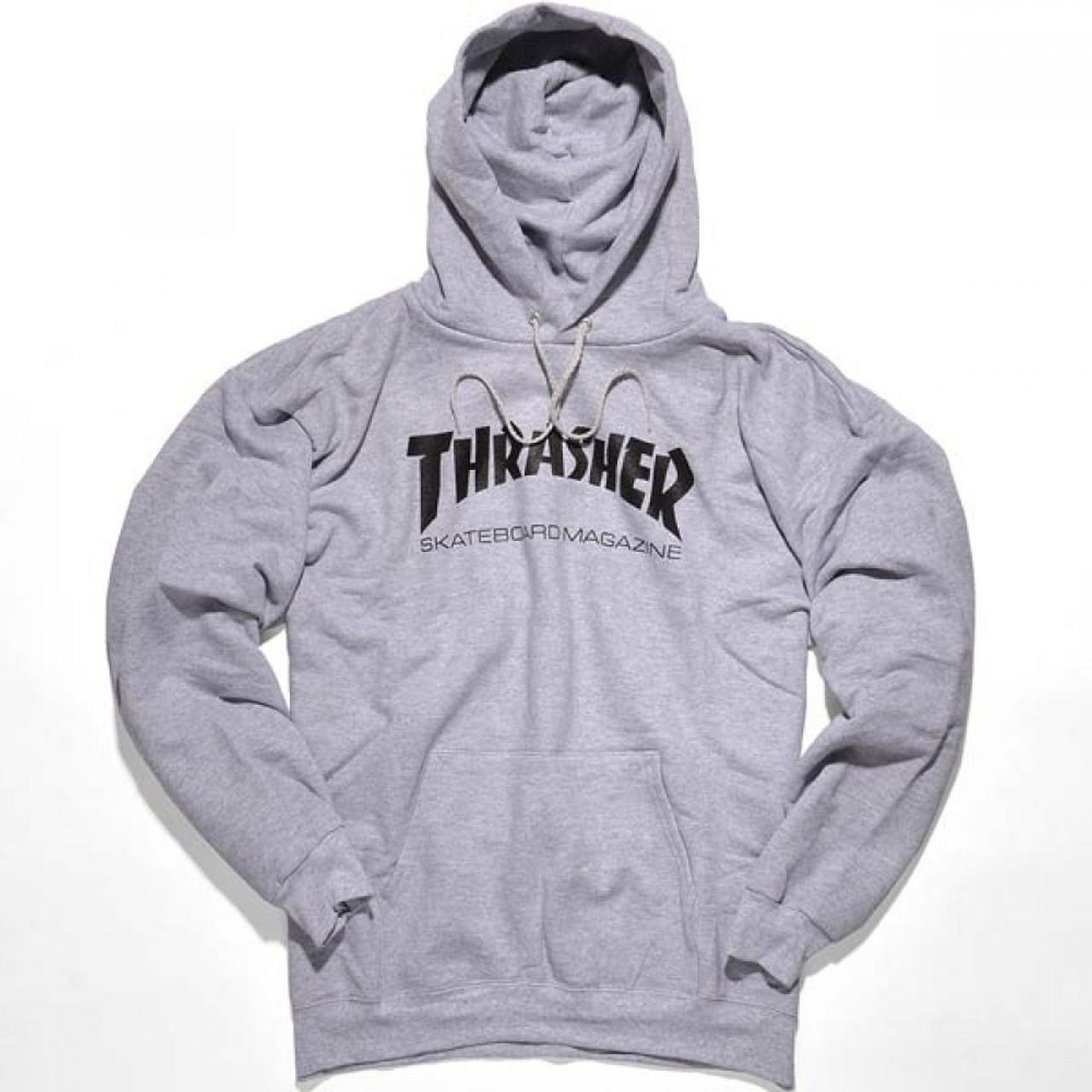 9a1d74720a54 Thrasher Skate Mag Hoodie Grey Black Xl