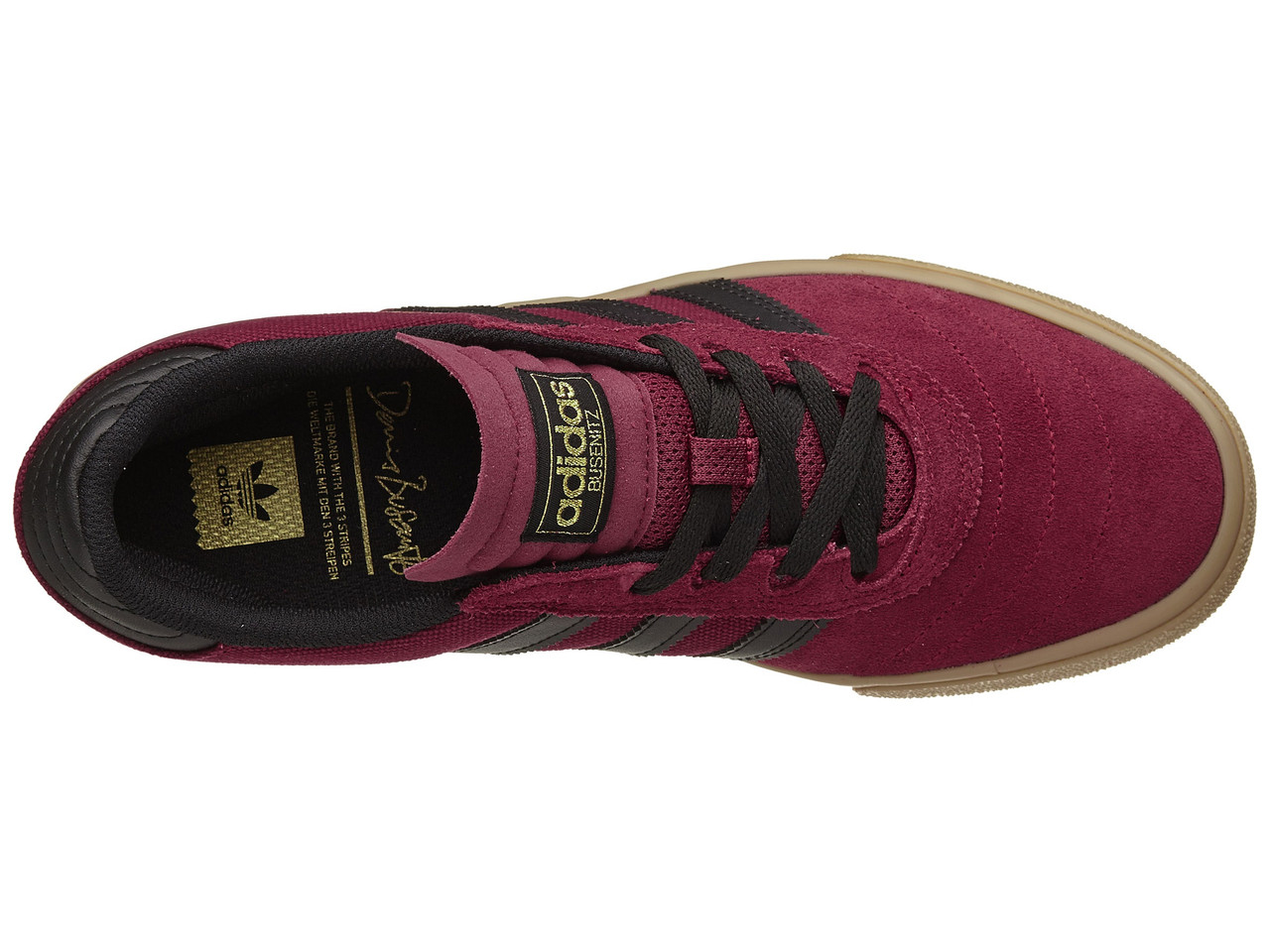 buy popular dfb71 c25a0 Adidas Busenitz Vulc Pro Skate Shoes Burgundy Black Gum   Boardparadise.com