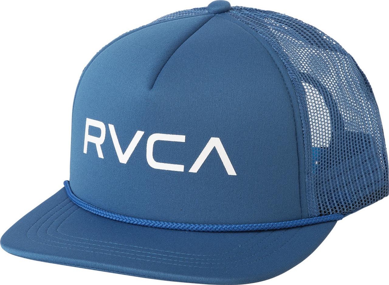 2f7d0aa34ba102 Rvca Foamy Trucker Hat Cobalt Blue Snapback   Boardparadise.com