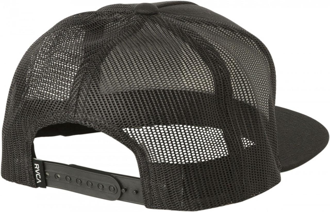 Rvca Va All The Way Trucker Hat Black Snapback  74be8a5d75ab