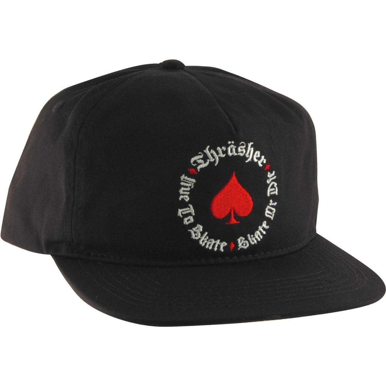 327bfa5747b Thrasher Oath Hat Black Snapback