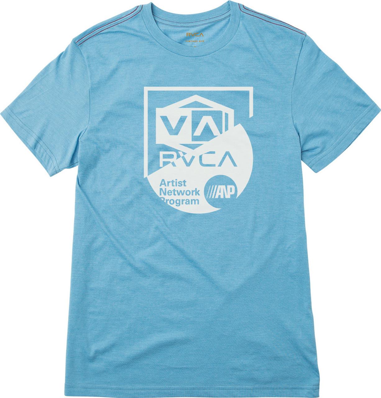 RVCA All In SS Tshirt Mens Lagoon Blue