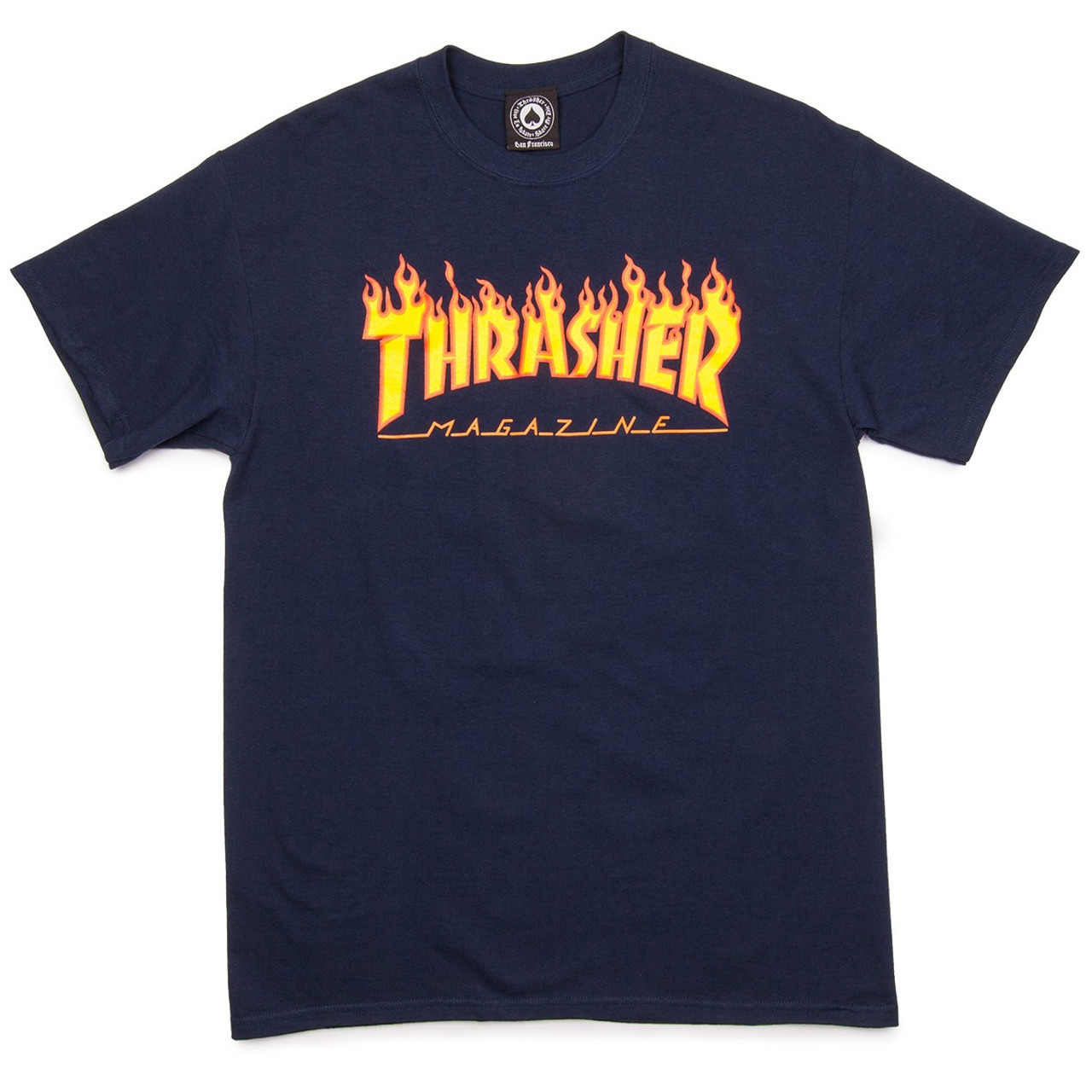 677a13e1453e Thrasher Flame Logo Tshirt Navy Xxl