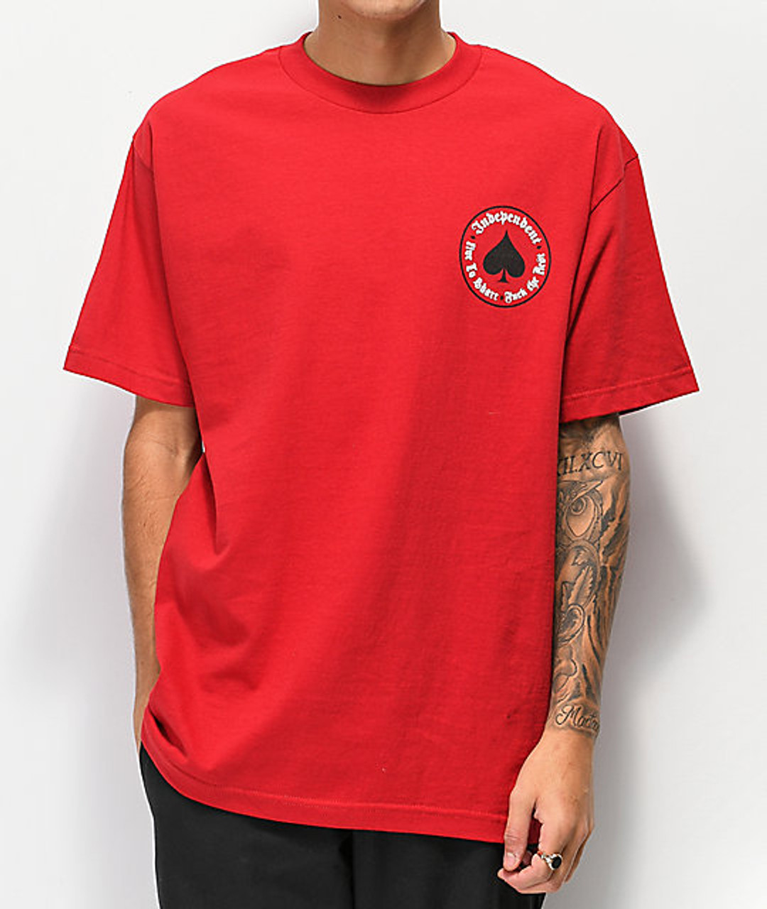 Independent x Thrasher Oath SS Tshirt Red
