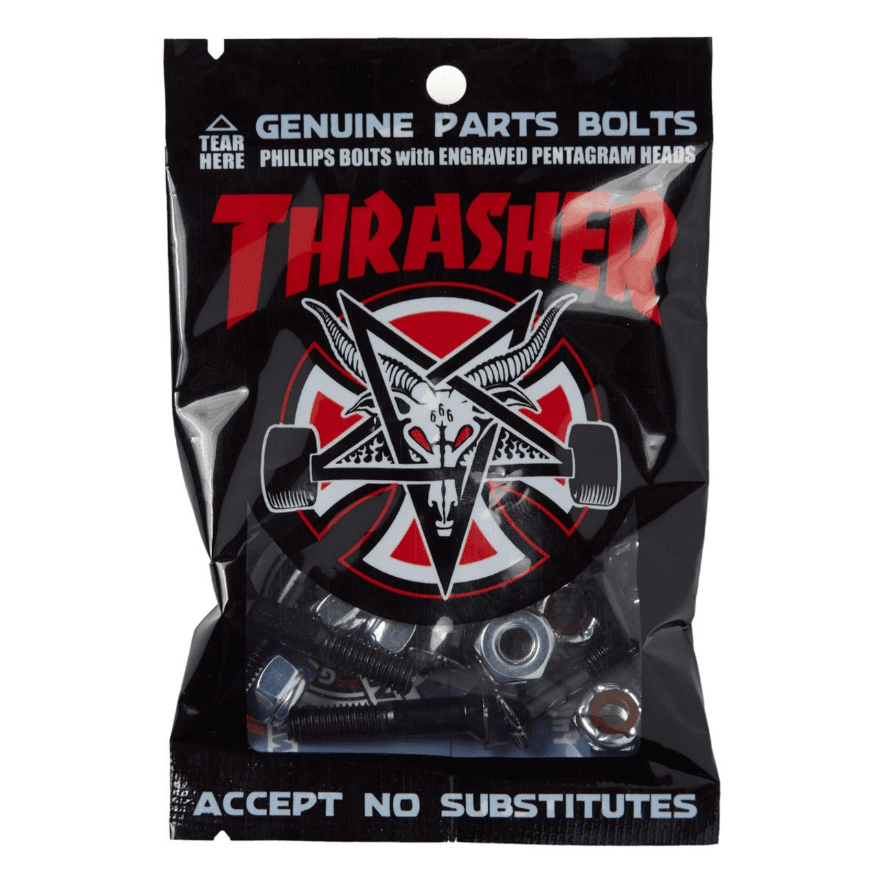 51191826189a Independent X Thrasher Bolts Black Silver 1