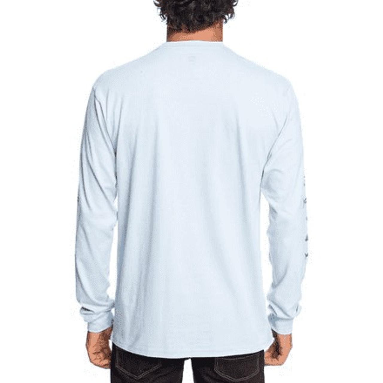 White All Sizes Quiksilver Mens Quick Bone T-shirt Long Sleeve