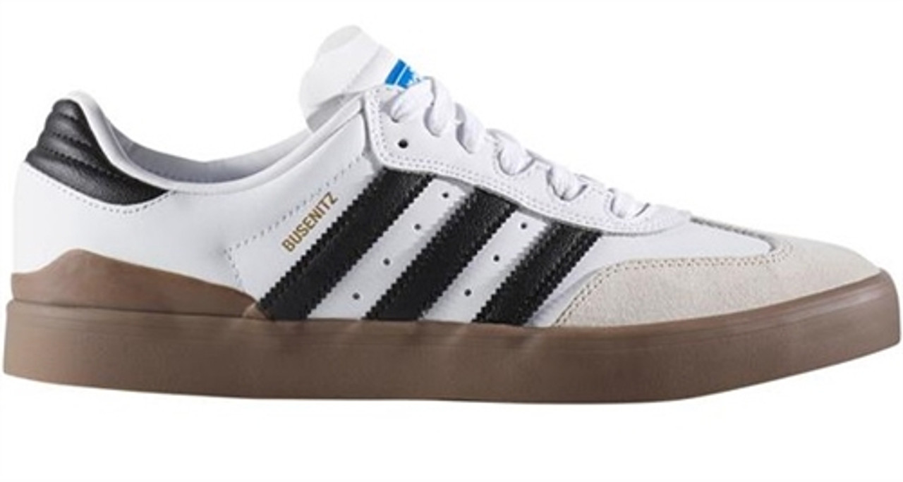 Adidas Busenitz Vulc Samba Skate Shoes White Black Gum