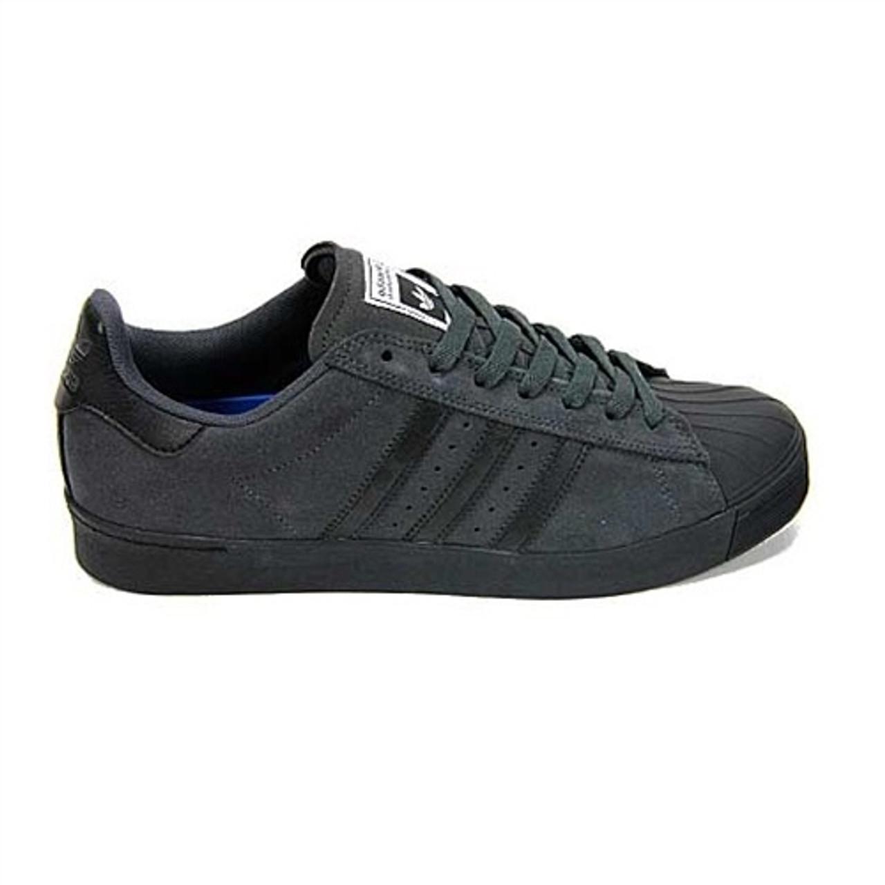 separation shoes 63bb3 66bd7 Adidas Superstar Vulc ADV Shell Toe Shoes Dark Grey Black