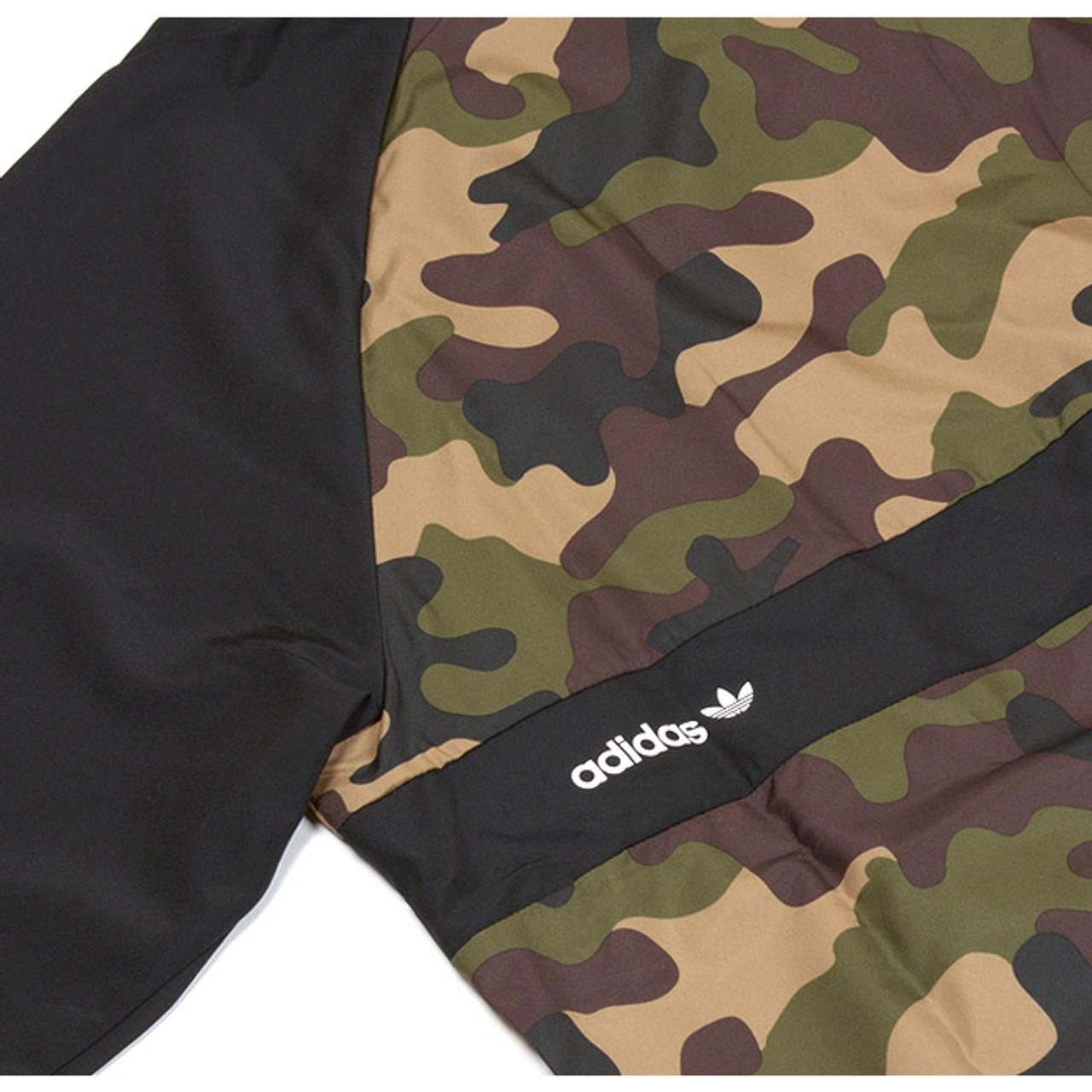 Adidas Windbreaker AOP Jacket Mens Camo Black