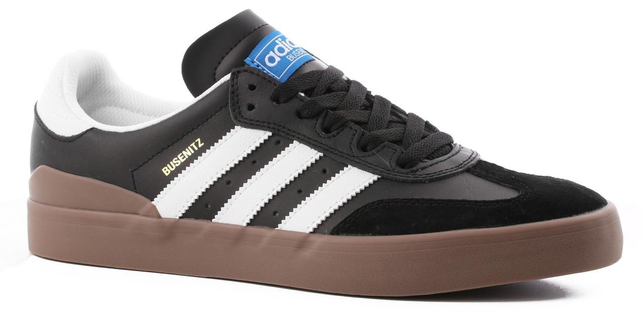 promo code 5e37e f5fb1 Adidas Busenitz Vulc RX Mens Shoes Black White Gum ...