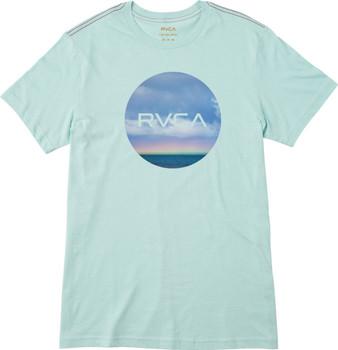 Rvca All In Ss Tshirt Mens Lagoon Blue   Boardparadise com