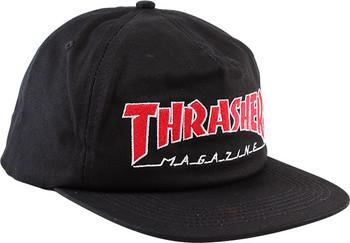 86b3897480e Thrasher Outlined Hat Black Red White Snapback