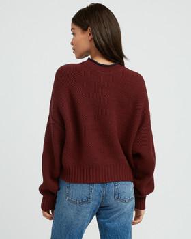 RVCA Womens Shadethrow CRW Neck Fleece Sweatshirt