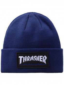 52ddacf4f28 Thrasher Logo Patch Beanie Blue OneSize