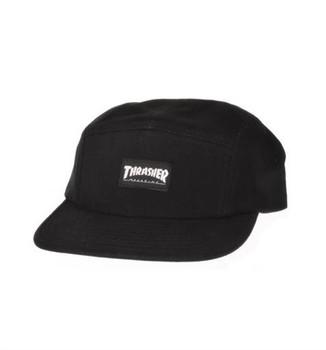 Thrasher Logo 5 Panel Camp Hat Black Flame Ripstop Snapback ... 8b961e61b6e