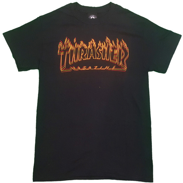 Thrasher Richter SS Tshirt Black Orange