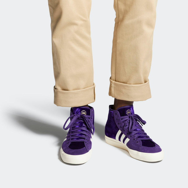 Adidas Matchcourt Mid Rx Nakel Shoes Purple White