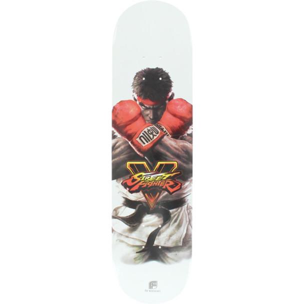 Finesse Streetfigher RYU-V Deck Skate Deck White 8.0 w/ MOB Grip