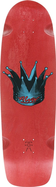 ALVA HYPERKICK SKATE DECK-9.5x33 RED w/ MOB GRIP