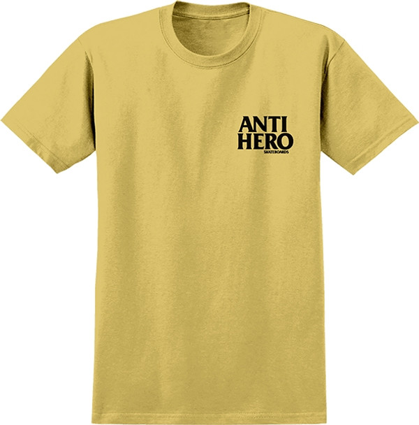 ANTI HERO LIL BLACK HERO SS TSHIRT S-MUSTARD/BLK